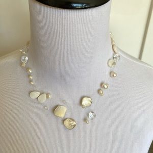Jewelry - White freshwater pearl illusion necklace